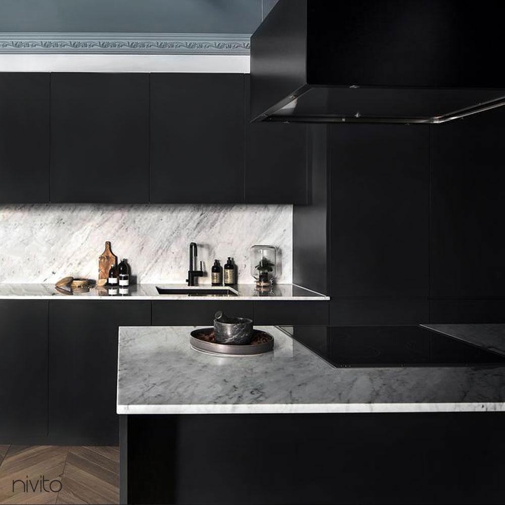 Black kitchen mixer tap single lever mono tap