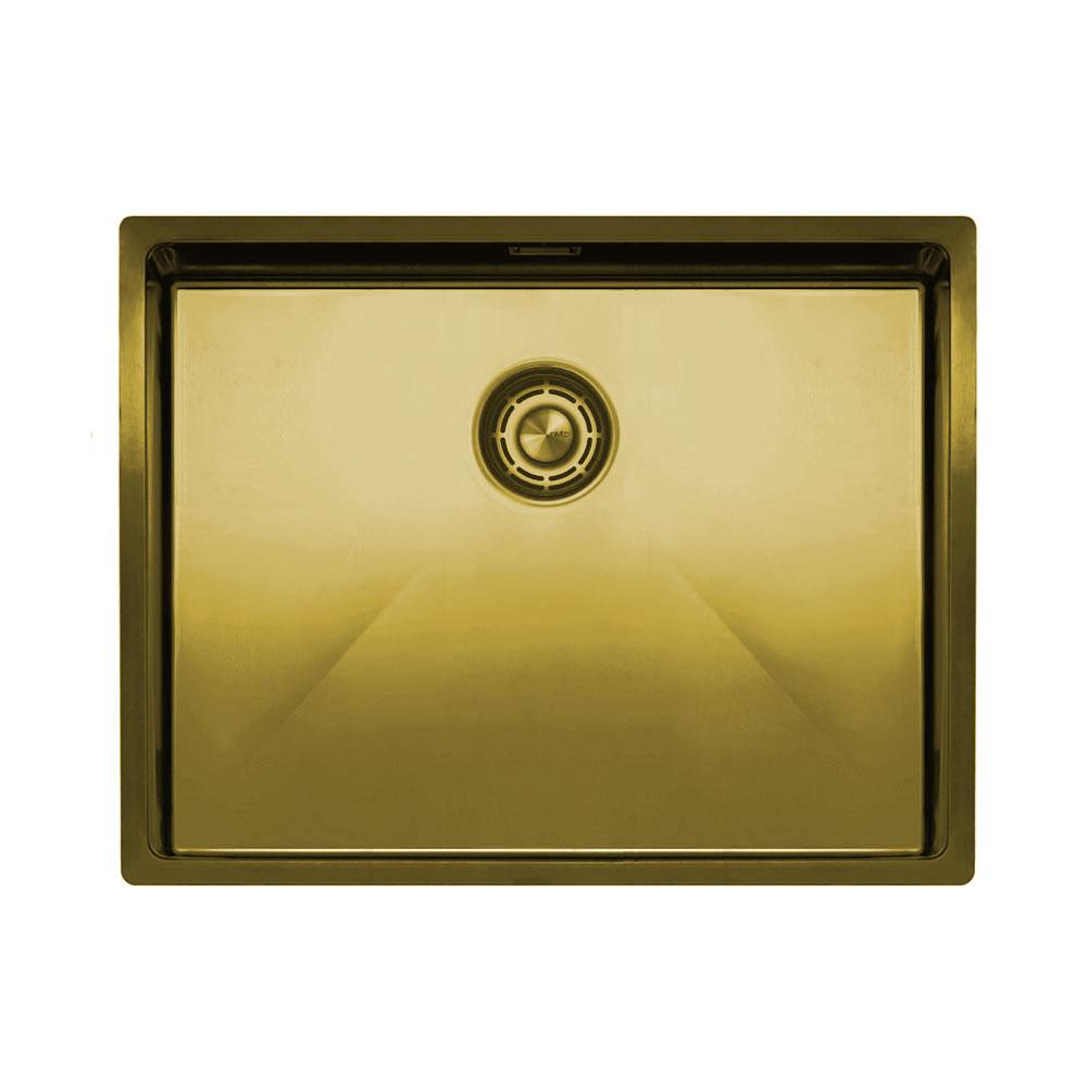 Brass/Gold Kitchen Basin - Nivito CU-550-BB