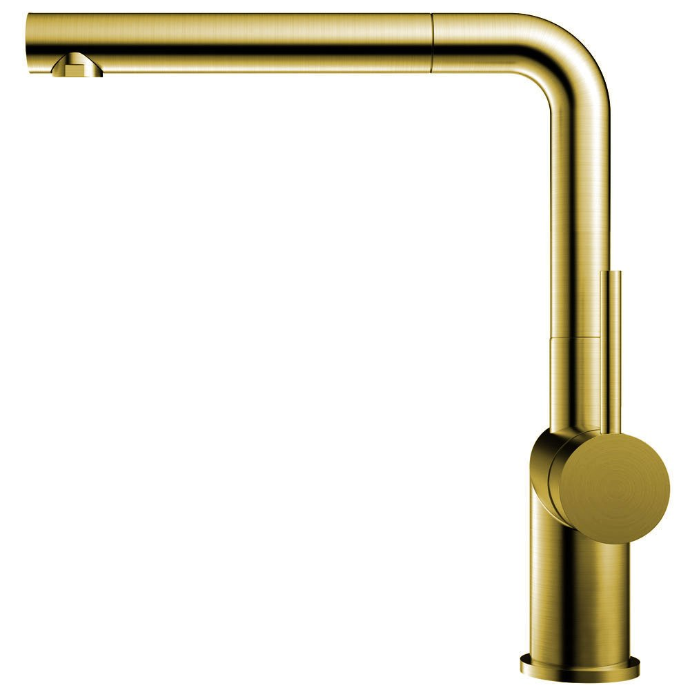 Brass/Gold Kitchen Sink Mixer Tap Pullout hose - Nivito RH-640-EX