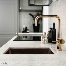 Brass/Gold Kitchen Mixer Tap - Nivito 2-RH-360