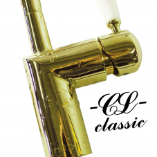 Brass/Gold Kitchen Mixer Tap - Nivito 4-CL-160