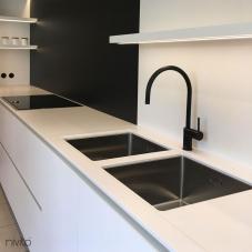 Black Kitchen Mixer Tap - Nivito 6-RH-120