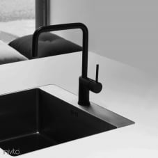 Black kitchen mixer tap single lever mono tap