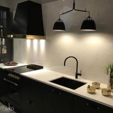 Black Kitchen Mixer Tap - Nivito 7-RH-120