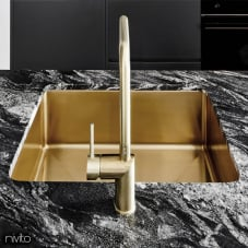 Brass/Gold Kitchen Sink - Nivito 1-CU-500-BB
