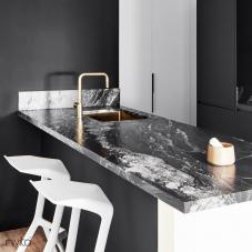 Brass/Gold Kitchen Sink - Nivito 2-CU-500-BB