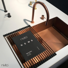 Copper Kitchen Sink - Nivito 1-CU-700-BC