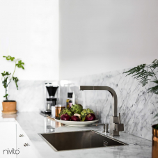 Stainless Steel Kitchen Mixer Tap - Nivito 1-SP-300