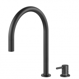 Black Kitchen Tap Pullout hose / Seperated Body/Pipe - Nivito RH-120-VI