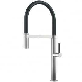 Stainless Steel Kitchen Tap Pullout hose / Brushed/Black - Nivito SH-200